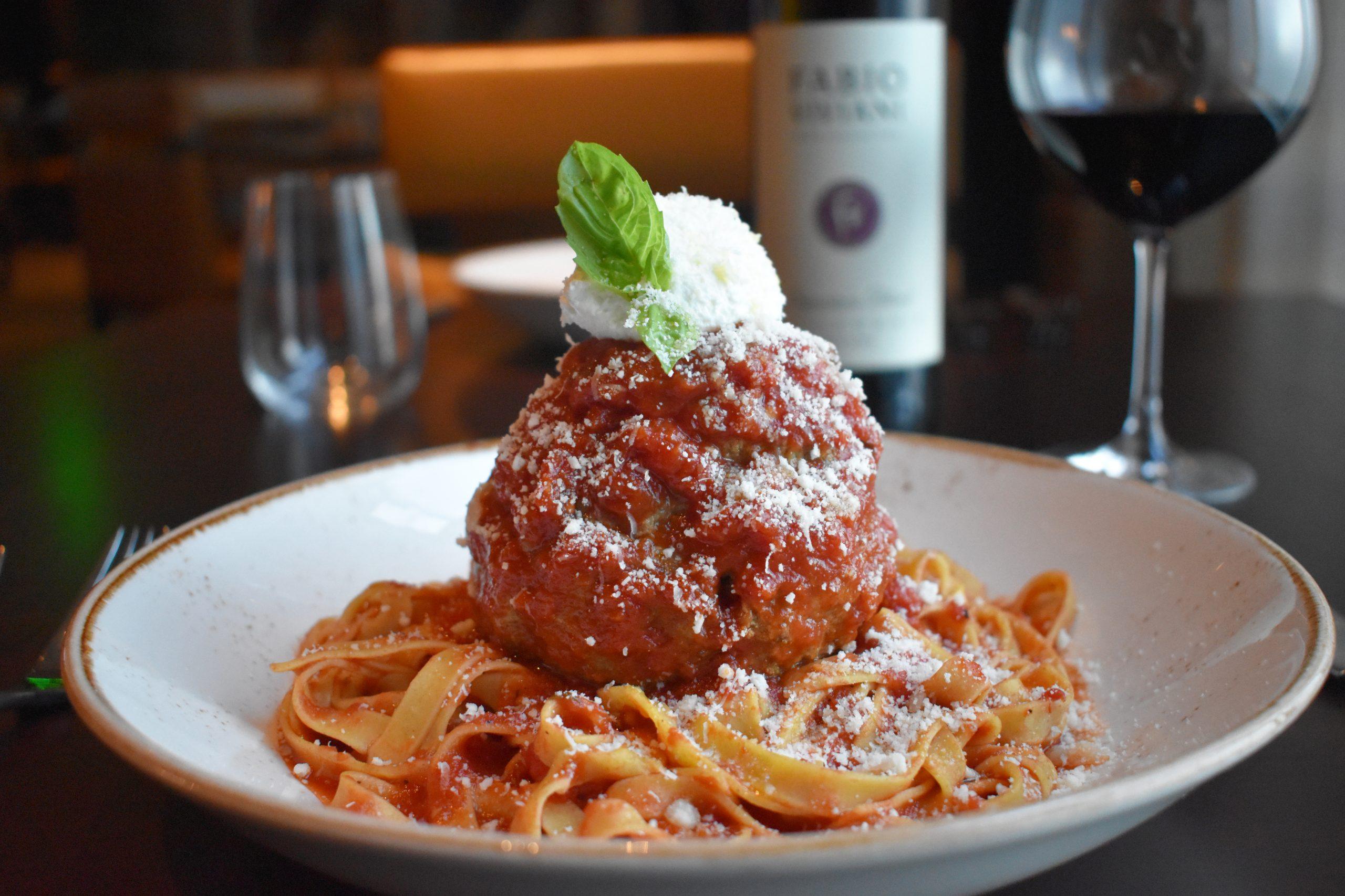 Pasta and Meatball at Portico by Fabio Viviani