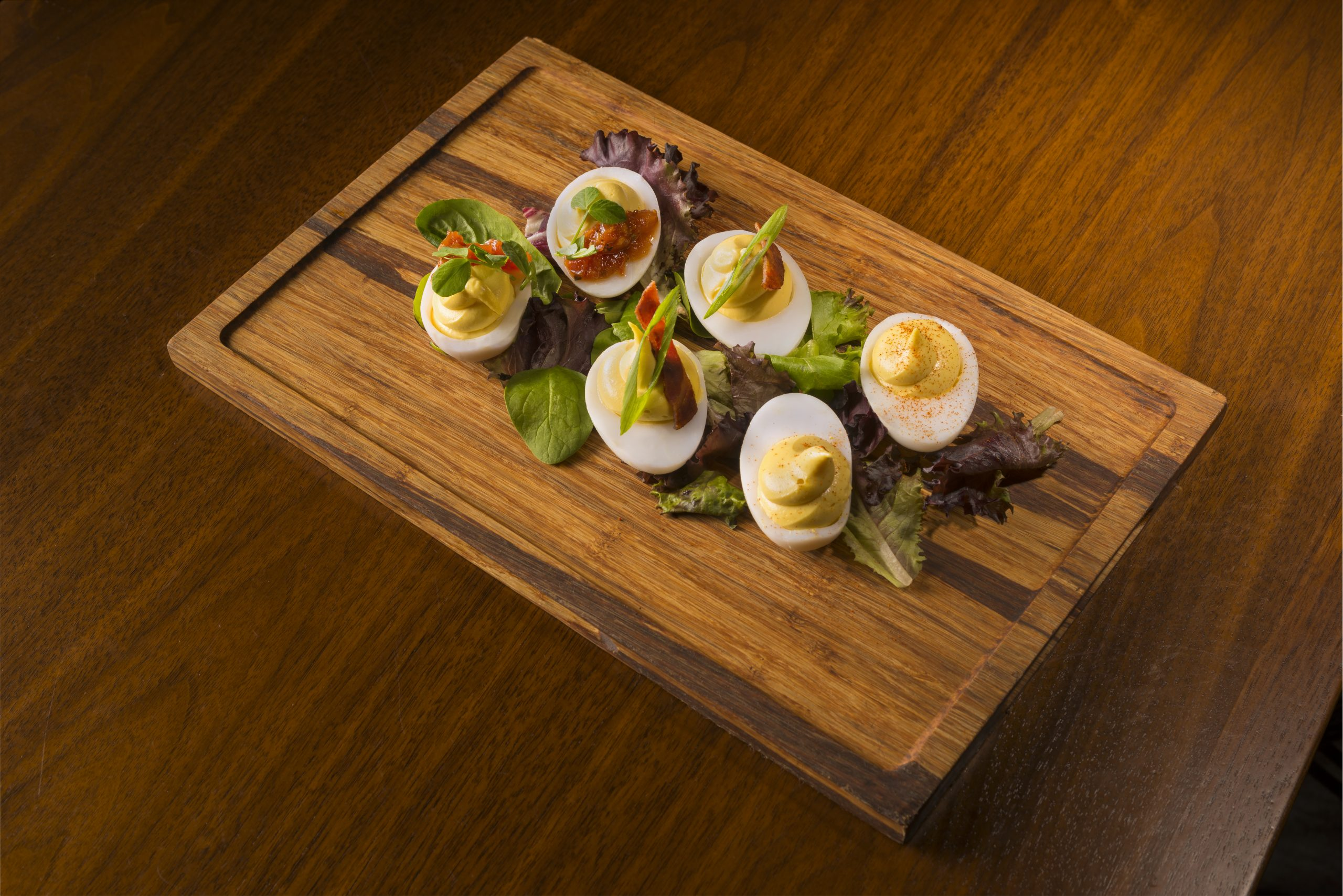 Deviled Duck Eggs at Sociale Cafe and Bar