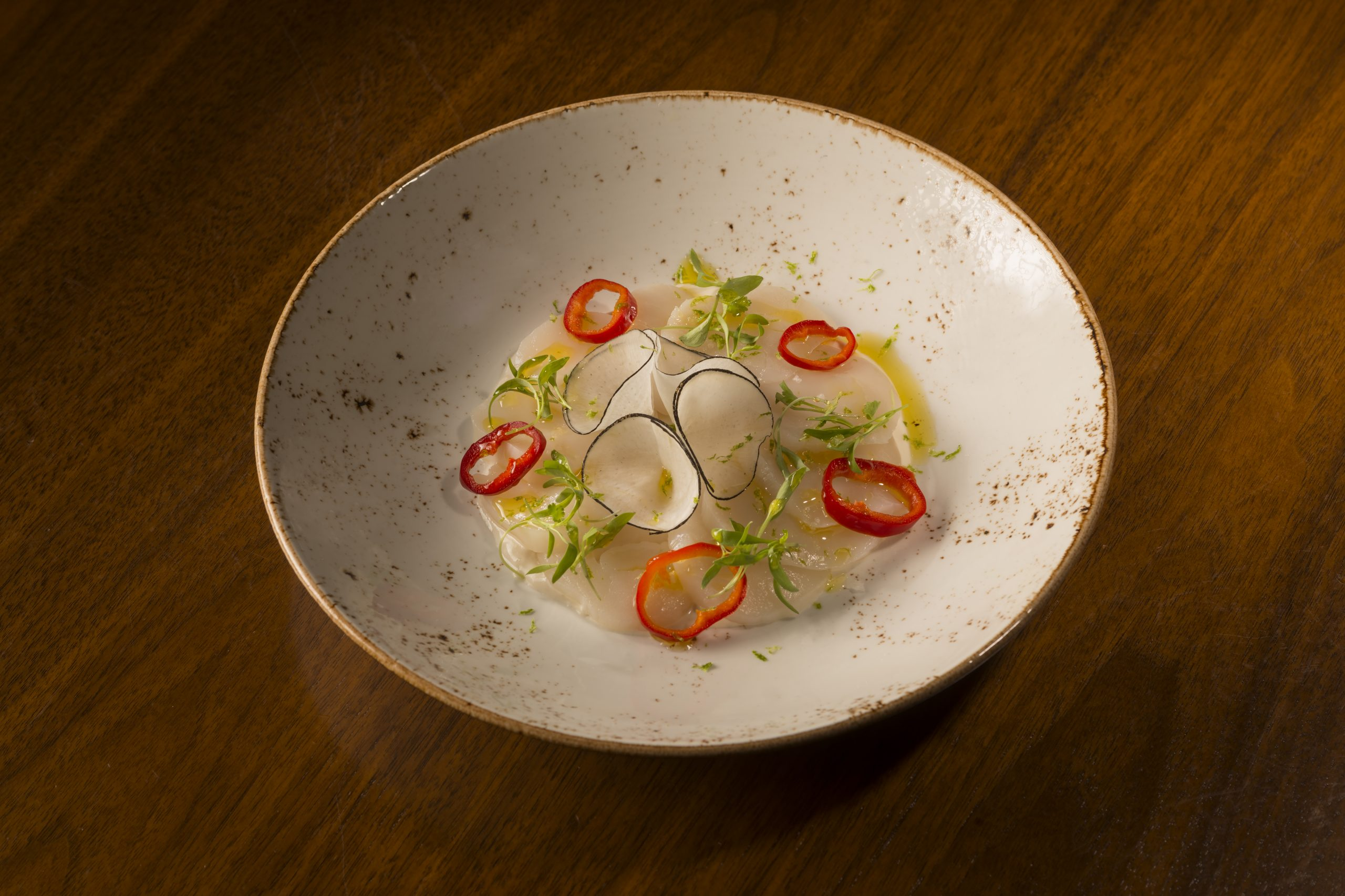 Scallop Crudo at Sociale Cafe and Bar