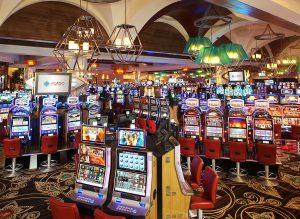 del Lago Casino Interior View of Slot Floor