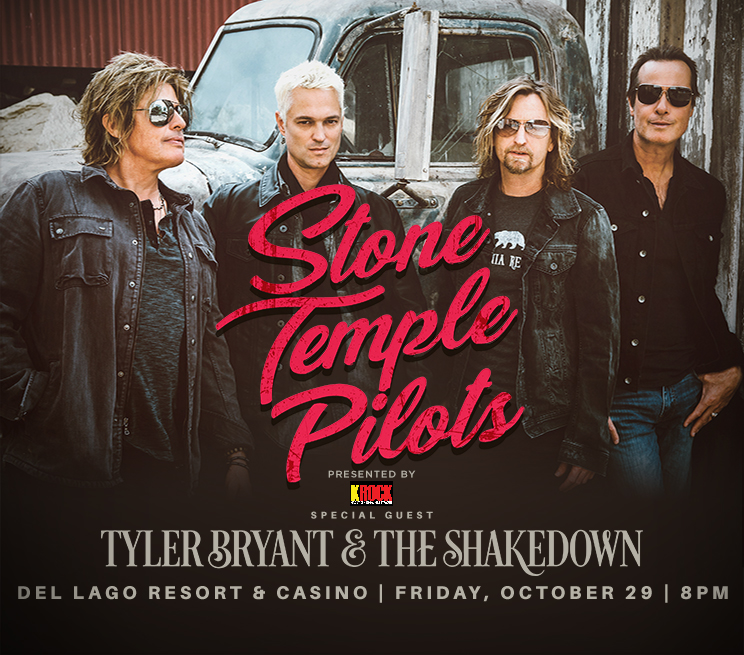 Stone Temple Pilots Presented By KROCK, with Special Guest Tyler Bryant & The Shakedown at del Lago Resort & Casino on Friday, October 29 at 8PM